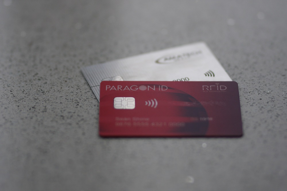 Paragon ID's first contactless metal card in the world
