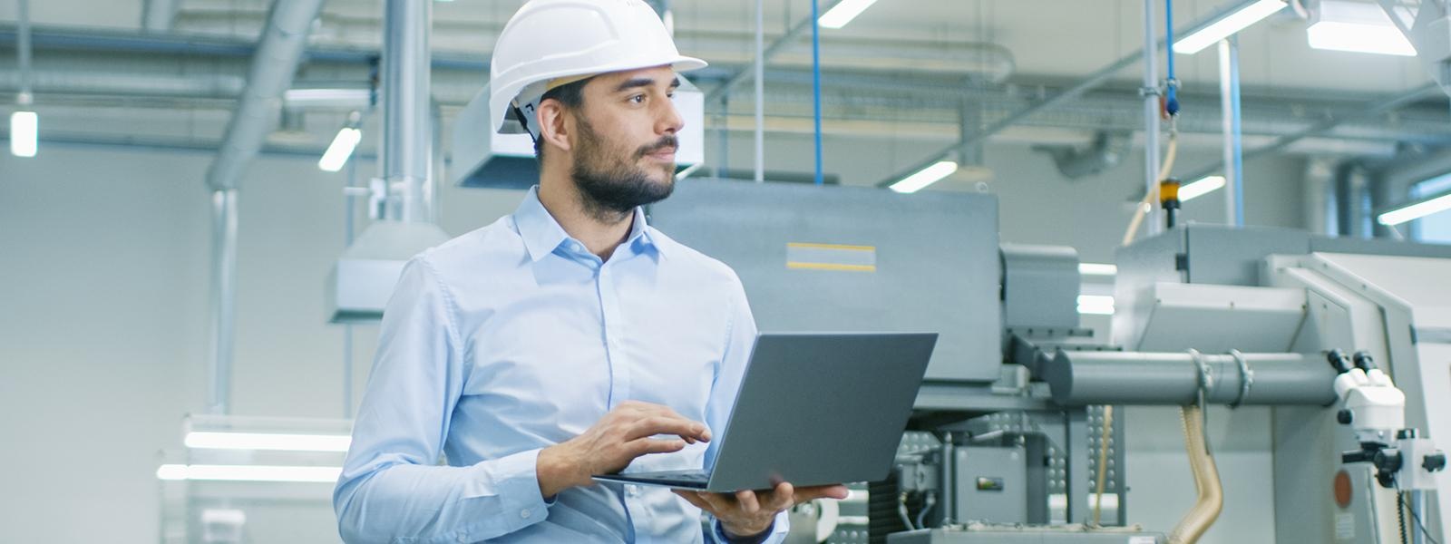 operations staff checking customer equipment runs smoothly