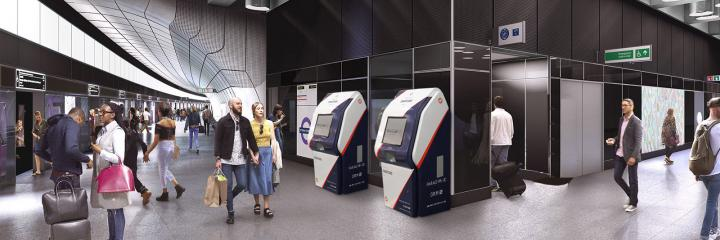 Smart card issuing kiosk in station