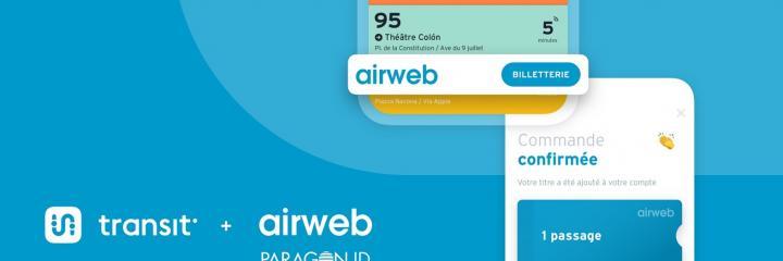 airweb, Paragon ID et Transit s'associent