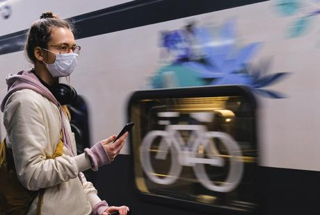 Protective face masks coronavirus on public transport